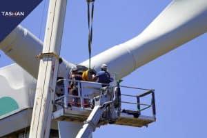 windmolen in offshore windpark