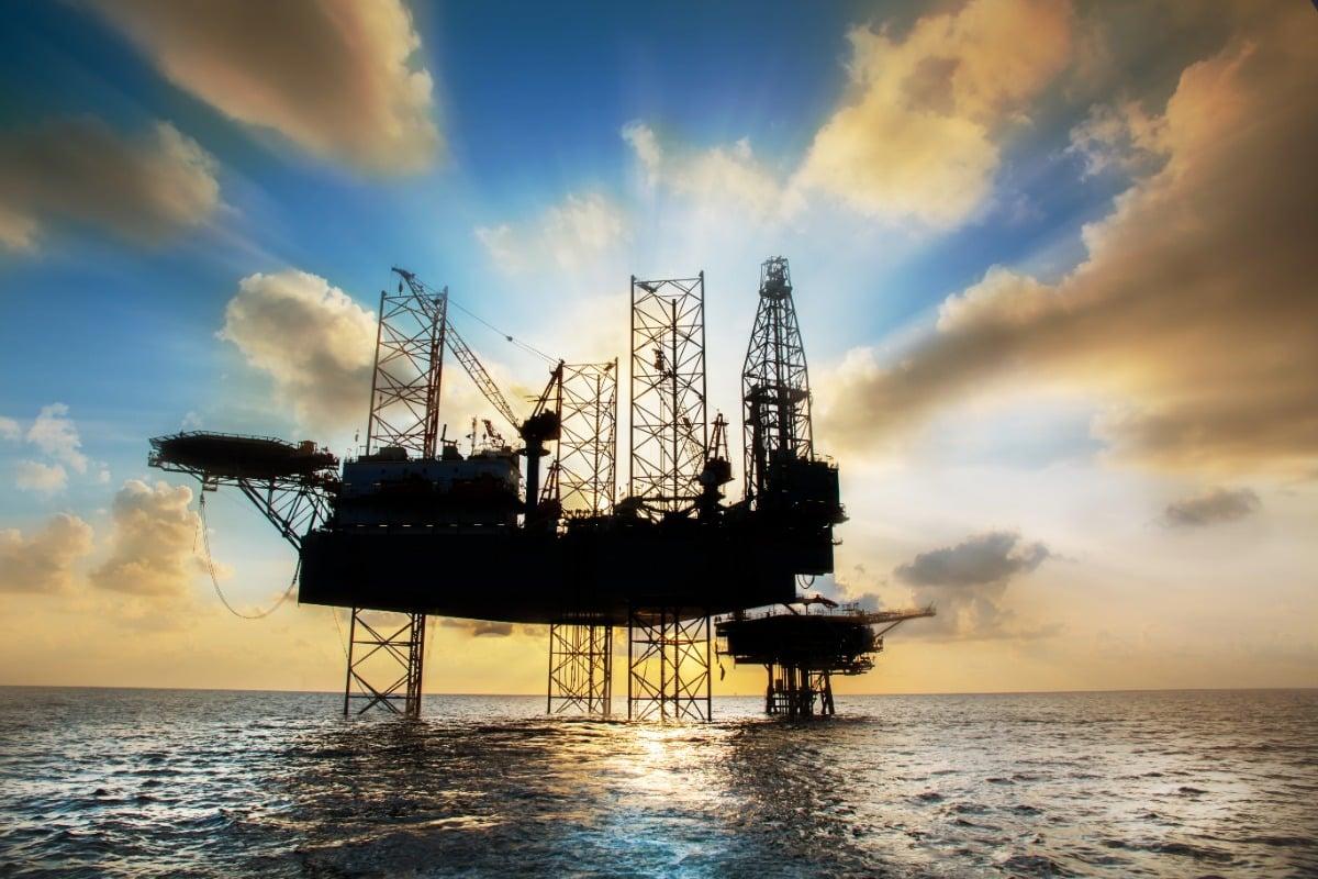 werken op een olieplatform